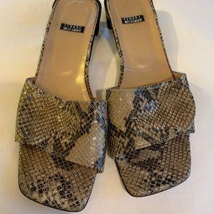 Stuart Weitzman snakeskin look sandal